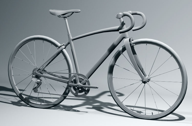 Bike 3d Model WIP of a road bike