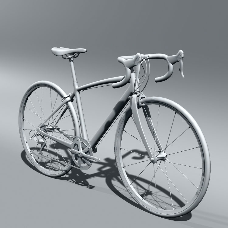 Bike 3d Model work on the road bike